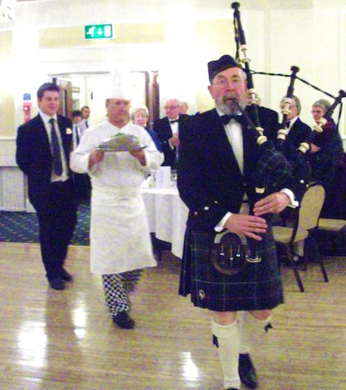 Burns Night - The Haggis Is Piped In