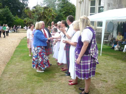 Dancing at Highcliffe Castle in August 2010