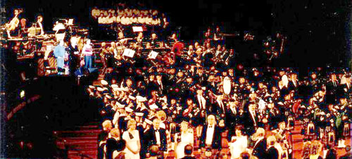 The team at The Albert Hall in 2002 at a Scottish Tattoo