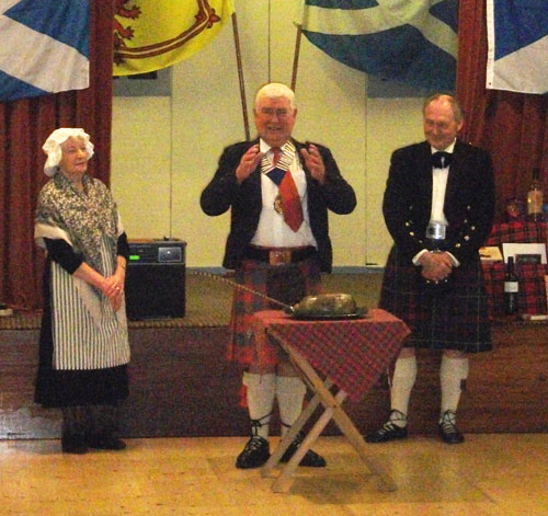 The President addresses the Haggis at our Haggis Night in the Hall 2014