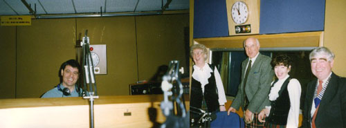 At Radio Solent in 1998 with Nick Girdler
