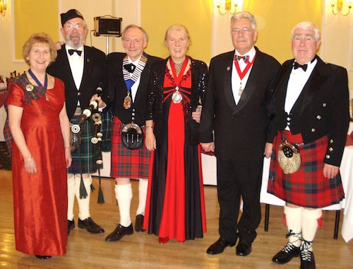 Burns Night - The President with the Deputy Mayor
