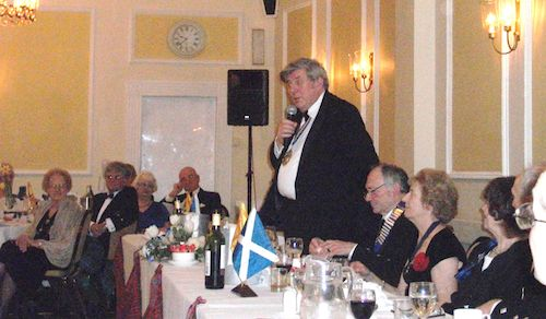The Mayor of Bournemouth at our Burns Night, 2013