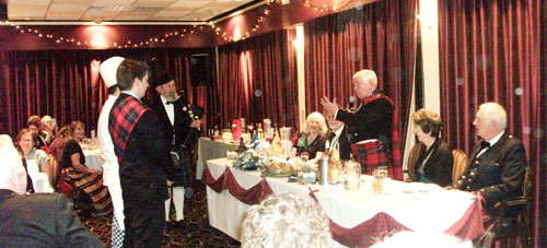 The President addresses the haggis