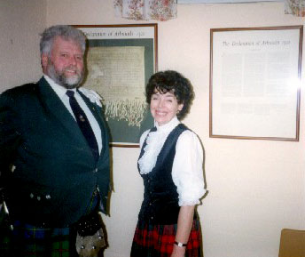 1994 receiving the Arbroath gifts