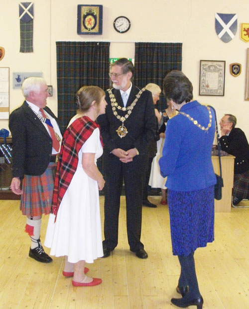 The Mayor and Mayoress of Bournemouth visit the Caledonian Society in the Scottish Hall, 2014