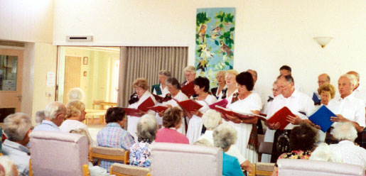The choir performing